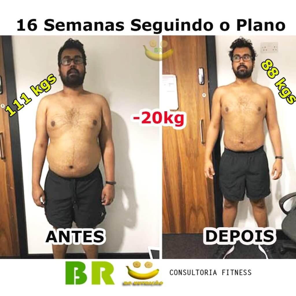 como emagrecer 20kg. 16 semanas seguindo o plano