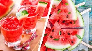 Melancia partida de forma criativa - Melancia frutas para emagrecer.