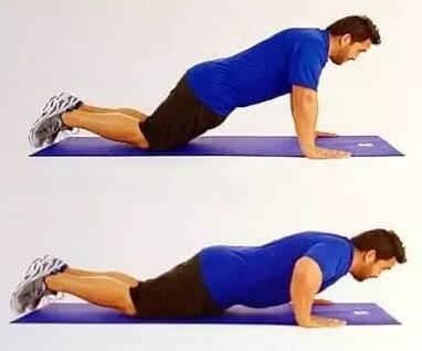 treino funcional em casa. Como fazer flexão com joelhos apoiados (mais fácil)
