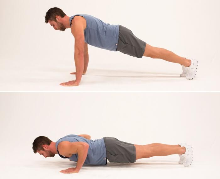 treino funcional em casa. aprenda como fazer flexão completa