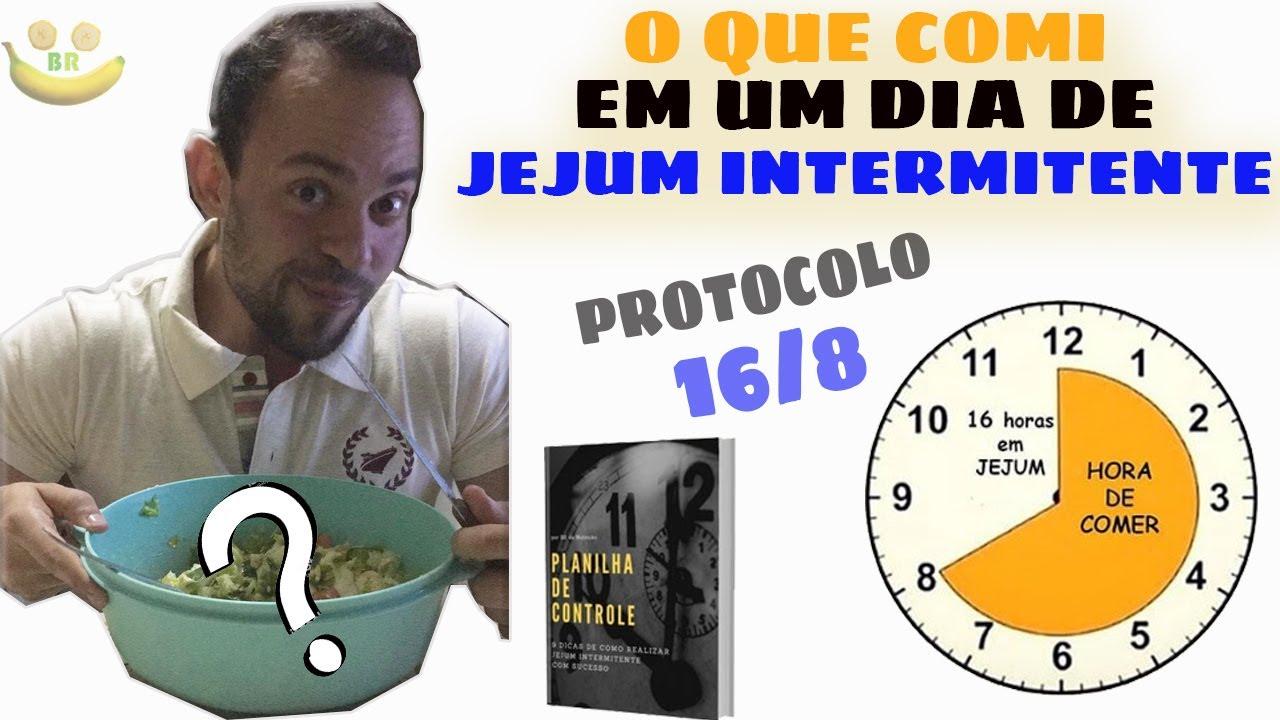 Bruno Rodrigo mostra o que comer pós aej em um dia de jejum intermitente