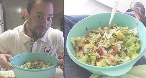 salada com frango alimentos ricos em fibras para emagrecer