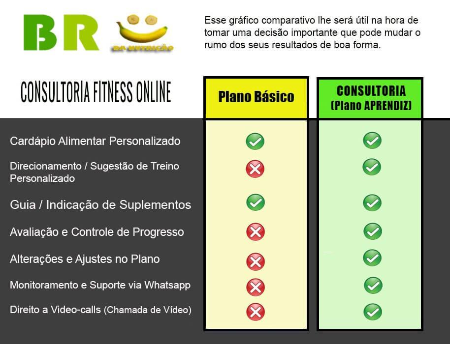 Plano Alimentar 2 BR da Nutrição | Consultoria Fitness Online